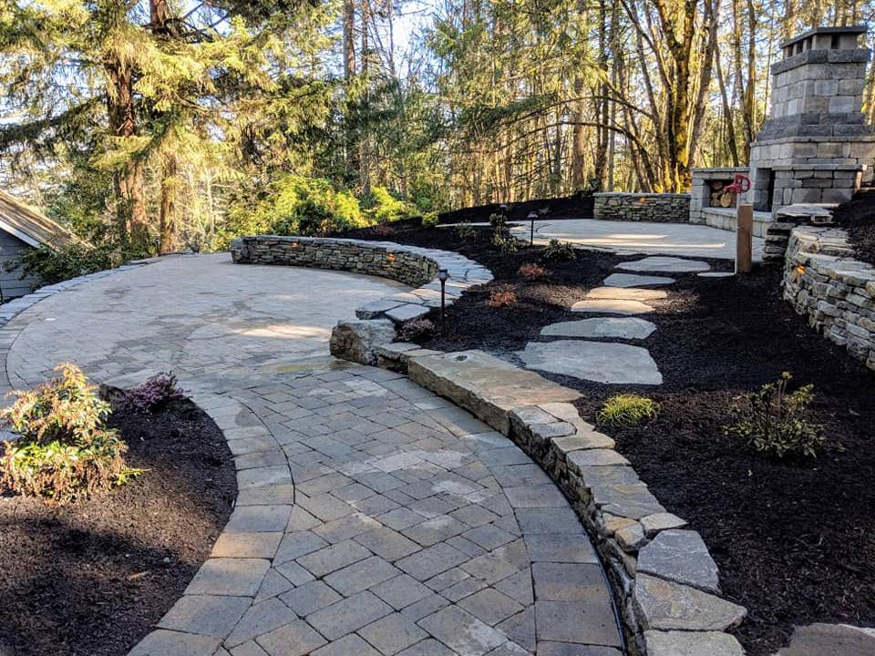 Outdoor Aesthetics landscape design stone walls and paths