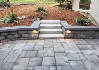 Paver Patio, Seat Wall, Steps and Low Voltage Lighting