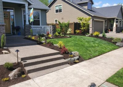 Paver Patio, Water Feature, Low Voltage Lighting and Planting